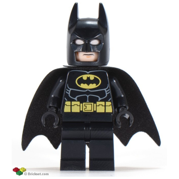 lego batman with black suit updated cowl minifigure. Black Bedroom Furniture Sets. Home Design Ideas