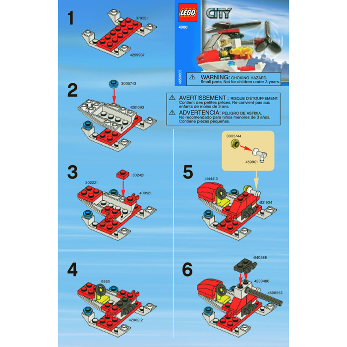 lego city fire helicopter instructions
