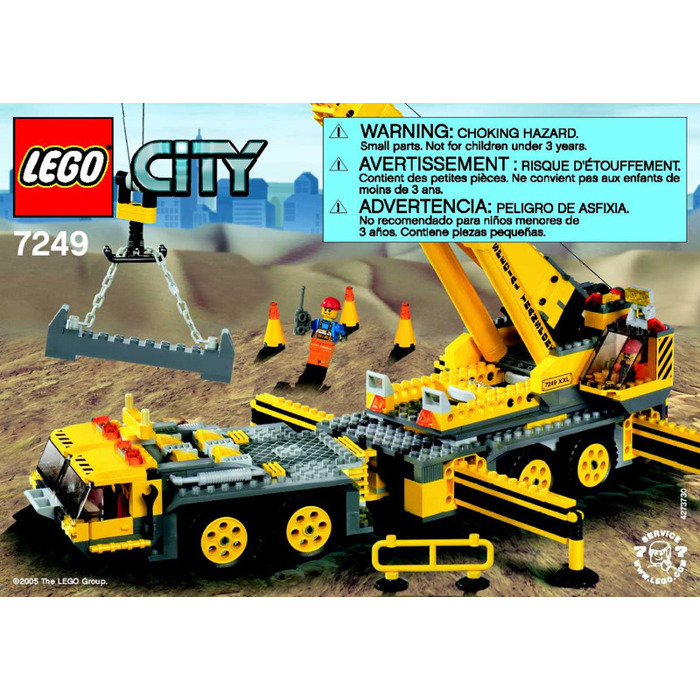 Lego City Crane Lego Xxl Mobile Crane Set 7249
