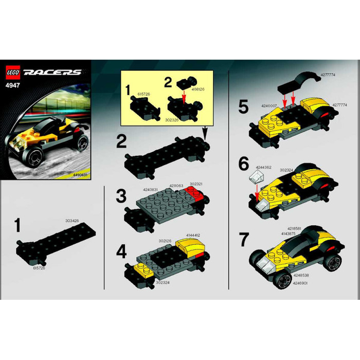 how to make a lego car instructions