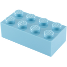 LEGO Medium Blue Brick 2 x 4 (3001)