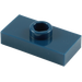 LEGO Dark Blue Plate 1 x 2 with 1 Stud (without Bottom Groove) (3794)