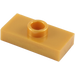 LEGO Pearl Gold Plate 1 x 2 with 1 Stud (without Bottom Groove) (3794)